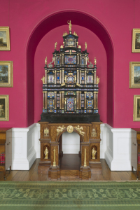 The restored Pope's Cabinet in the Cabinet Room at Stourhead, Wiltshire.