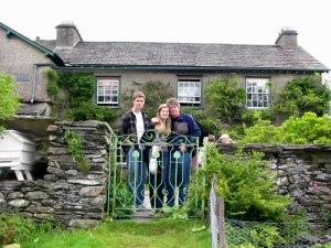 The author's family at Hilltop, Cumbria