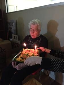 Jessie celebrating her birthday with Royal Oak.