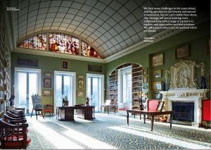 The library at Stourhead, Wiltshire