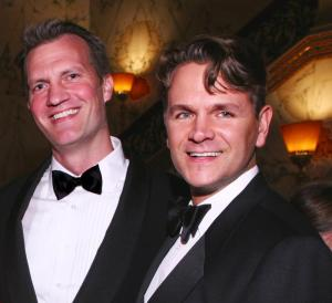 Stein Berre and his husband, Britt Smith, at Royal Oak's Timeless Design Gala
