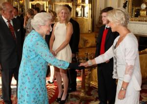 Queen Elizabeth and Dame Helen Mirren, courtesy of Zimbio