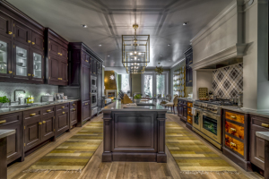 The huge galley-style kitchen designed by Christopher Peacock, image courtesy of HGTV