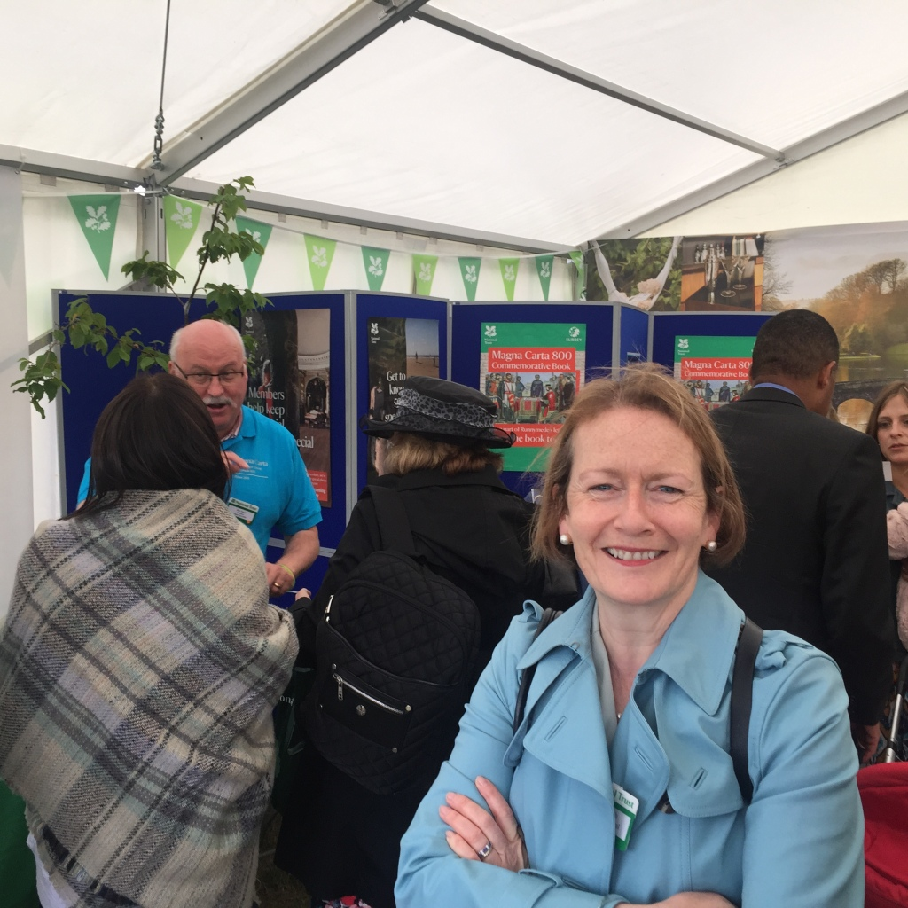 Director General of the National Trust, Dame Helen Ghosh, poses in front of Royal Oak's booth.