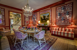 The Show House's formal dining space, designed by Mark D. Sikes