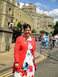 Jennie outside Windsor Castle
