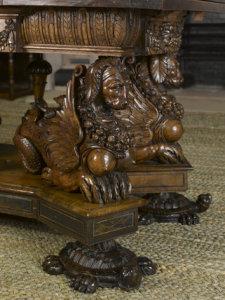 "The ""sea dog"" table at Hardwick Hall"