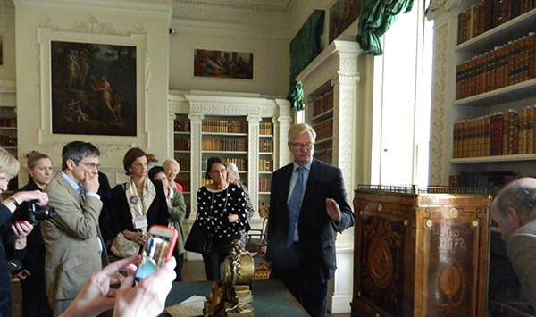 National Trust Curator Christopher Rowell leads Royal Oak Heritage Circle members through Osterley.