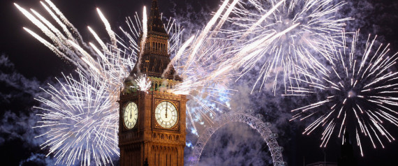 New Year's Eve in London. Photo courtesy of The Huffington Post.