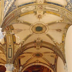 Detail of archways in Burden mansion