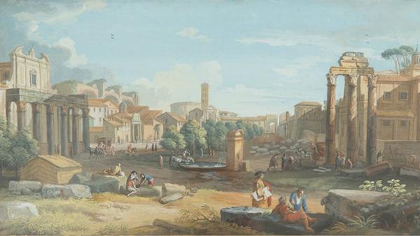 Giovanni Battista Busiri (1698-1757), The Campo Vaccino, Rome / NT 267121