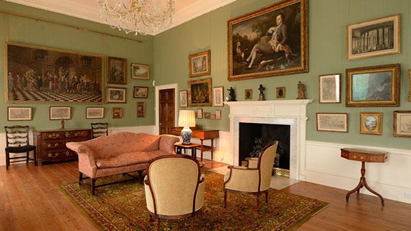 Interior, South Pavilion at Basildon Park