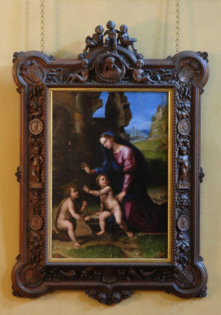 The Holy Family with the Infant St John in a Landscape by circle of Raphael (Urbino 1483 ¿ Rome 1520)