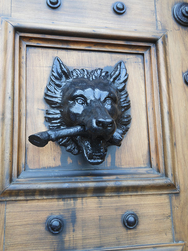 Front door Highclere Castle - photo by Yvonne Raptis