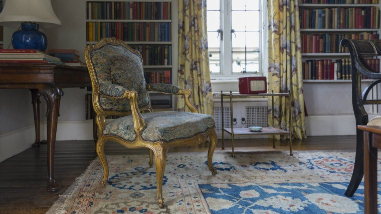 The embroidery on this chair is stunning. National Trust/Chris Lacey