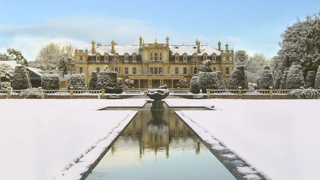 Dyffryn house in the snow © National Trust