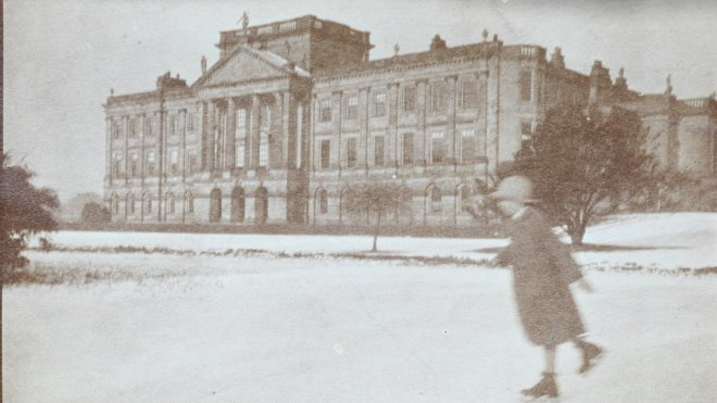 People used to dance on ice at country houses like Lyme Park during the festive season / National Trust