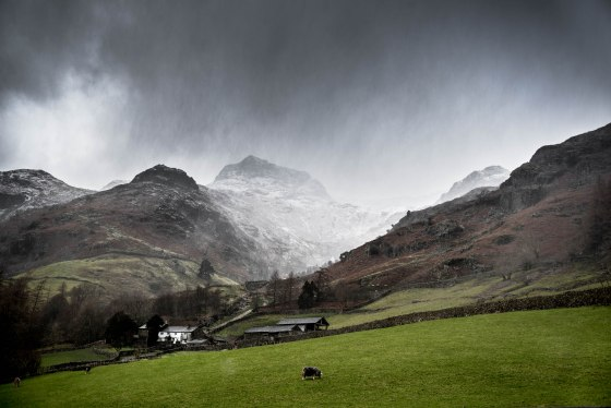 LAKE DISTRICT: A light dusting of snow on the fells at Millbeck, Great Langdale, was spotted by National Trust water adviser John Malley yesterday. Credit: John Malley / National Trust