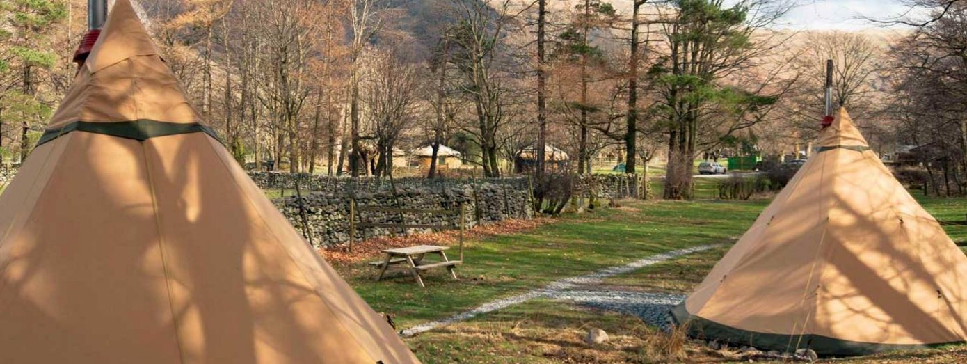Tipis at Great Langdale/ National Trust Images