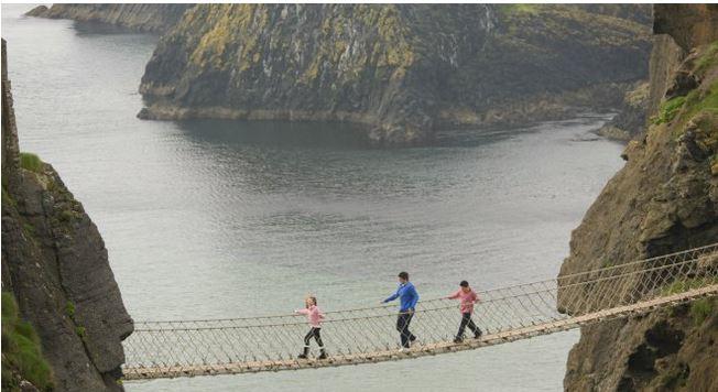 Take the rope bridge challenge National Trust Images / Rod Edwards