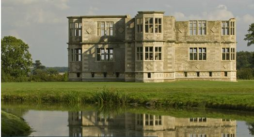 The water garden with the building beyond at Lyveden New Bield National Trust Images / Paul harris