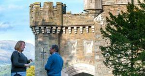 Alan Titchmarsh chats to Liz Hunter-Macfarlane at Wray Castle