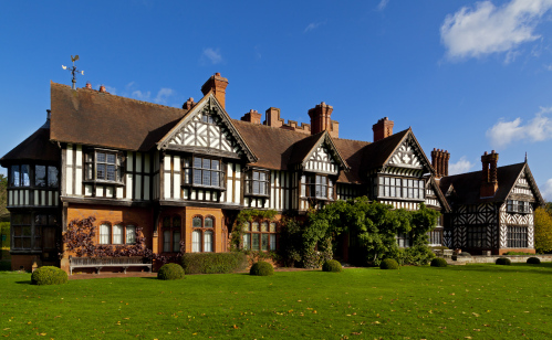 Exterior view of Wightwick Manor and Gardens, West Midlands. National Trust Images-Robert Morris