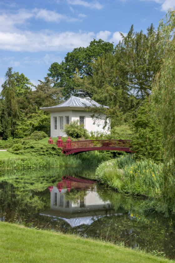The Chinese House, a garden pavilion in the park at Shugborough Hall, built in about 1747. ©National Trust Images/Andrew Butler