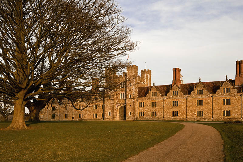 The west front of Knole, Kent. The central gatehouse was built by Henry VIII between 1543 and 1548, with later additions to the west front in the seventeenth-century. ©National Trust Images/Robert Morris
