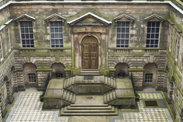 The Palladian courtyard at Lyme Park, Cheshire ©National Trust Images/Stephen Robson