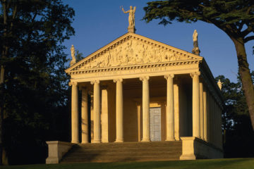 The Temple of Concord and Victory, in the early morning, at Stowe Landscape Gardens, Buckinghamshire ©National Trust Images/Andrew Butler