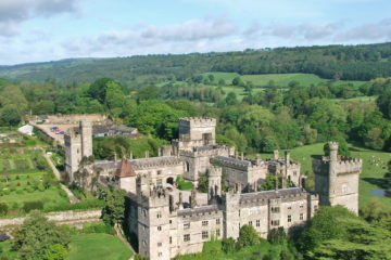 Aerial view of the Lismore Castle