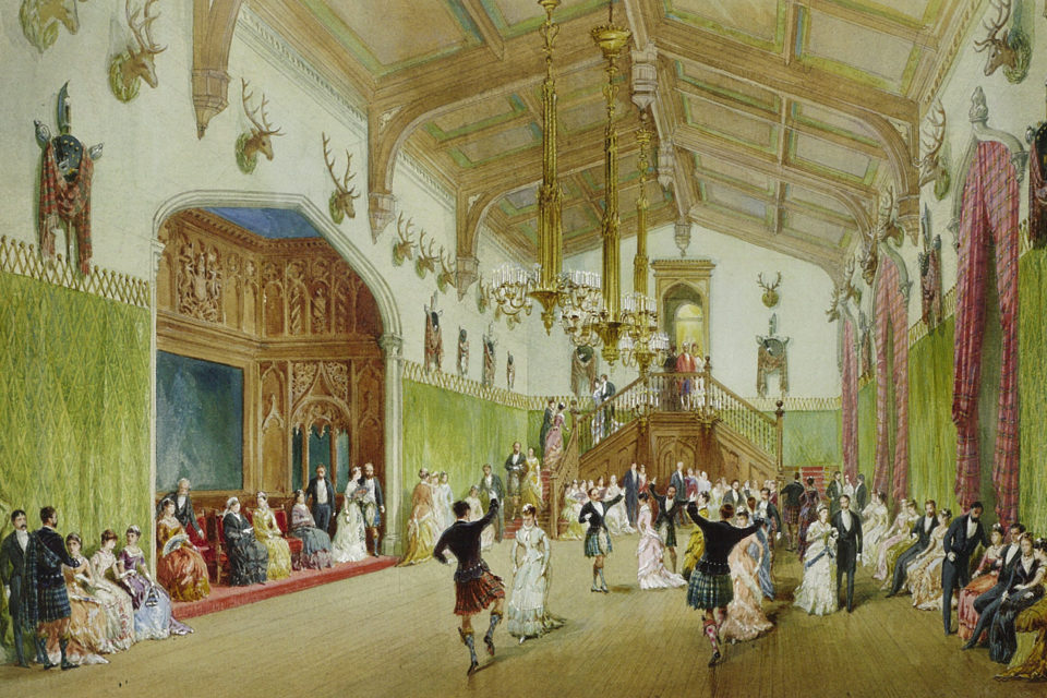 William Simpson The Ballroom Balmoral Castle 1882. Royal Collection Trust © Her Majesty Queen Elizabeth II 2016