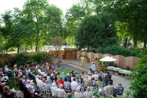 Shakespeare in the Royal Over-Seas League garden