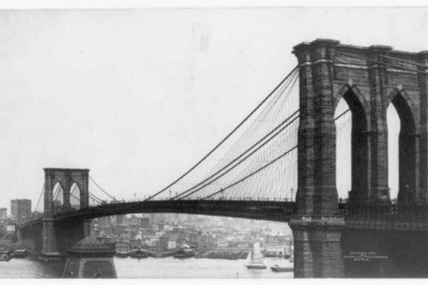 Brooklyn Brige from Brooklyn, c. 1901