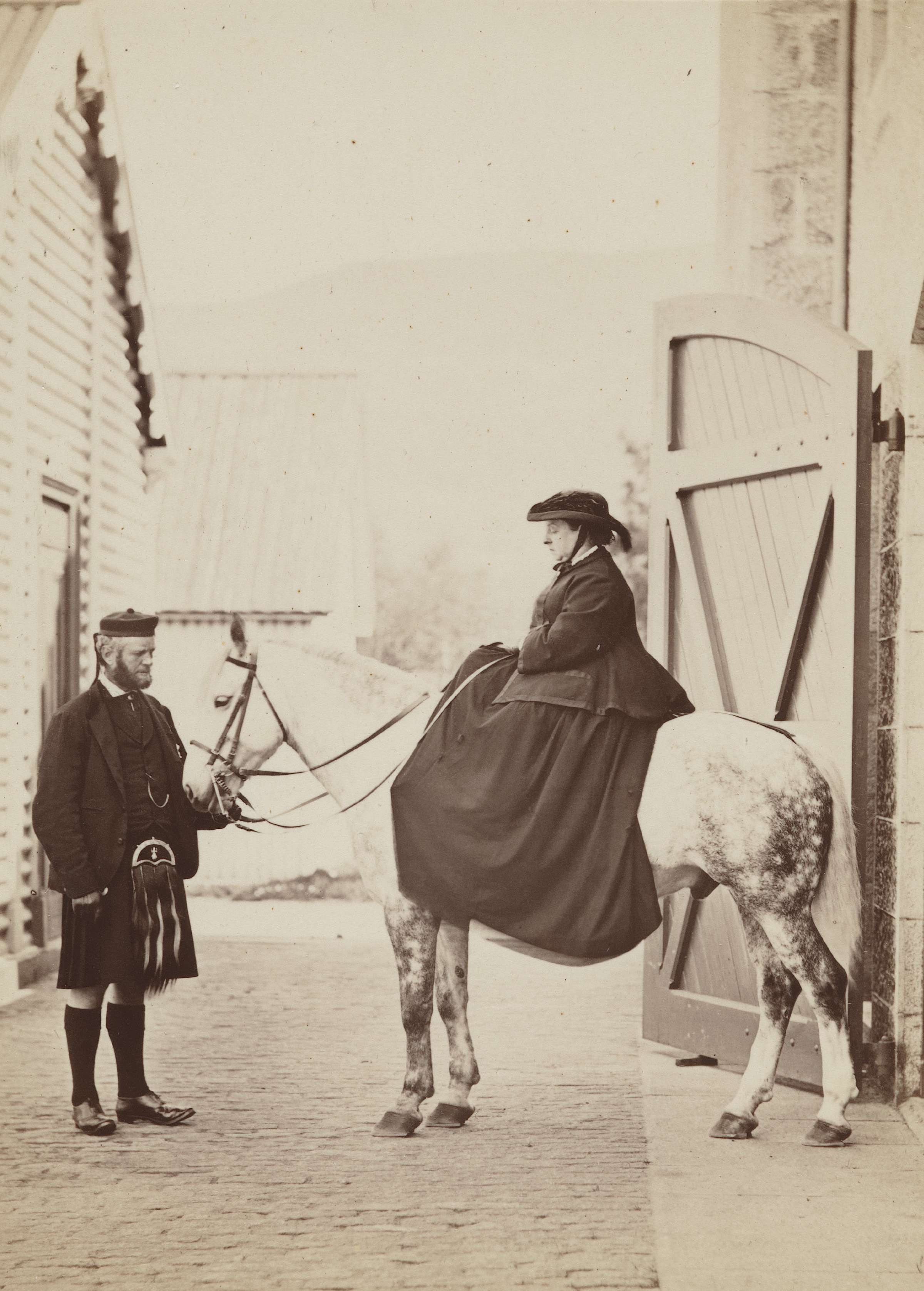 John Brown and Queen Victoria, 1868 © National Portrait Gallery, London