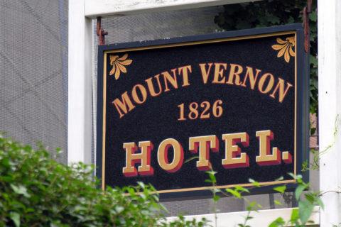 Mt. Vernon Hotel Sign