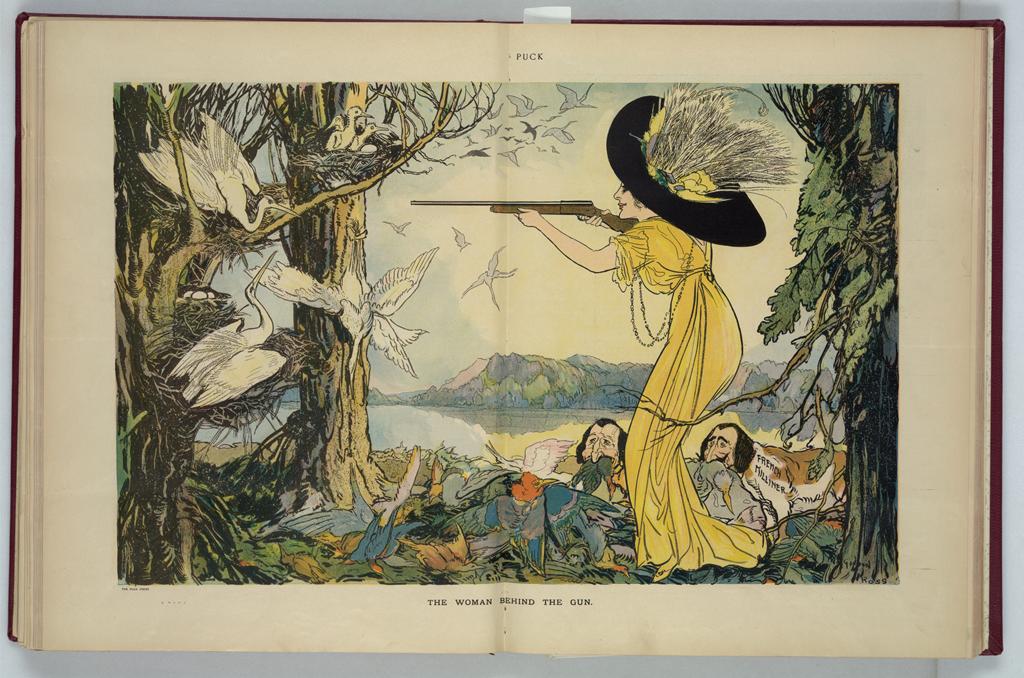 The Woman Behind the Gun, by Gordon Ross, 1911