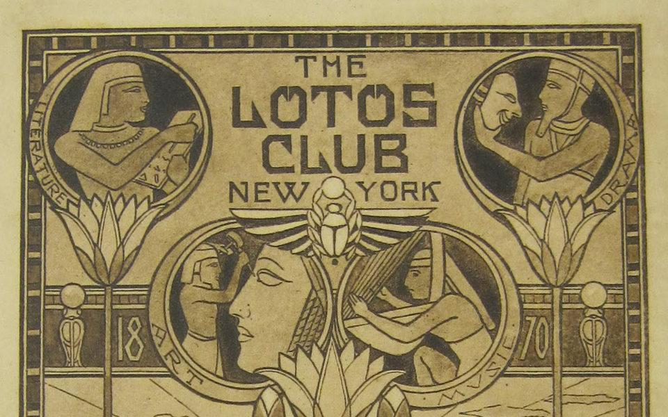 Lotos club book plate