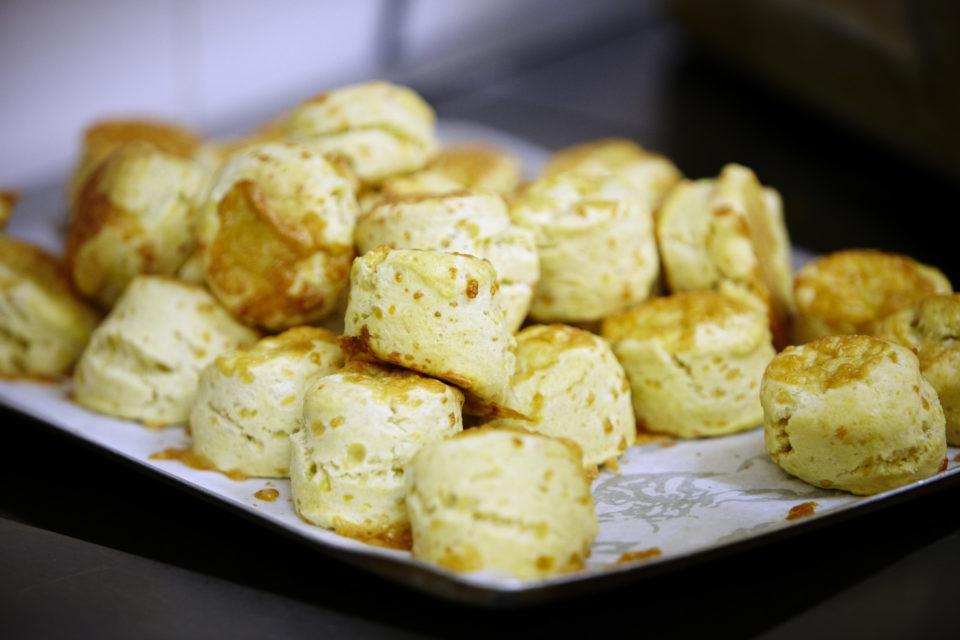Cheese scones in the tea-room at Killerton, Devon. ©National Trust Images/Arnhel de Serra