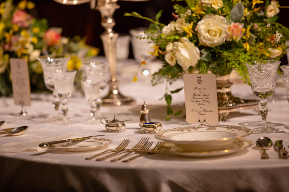 A close-up of the recreation of the Crawley's dining room in Downton Abbey The Exhibition, opening at Biltmore Nov 8, 2019. ©Imagine Exhibitions NBC-Universal & Carnival