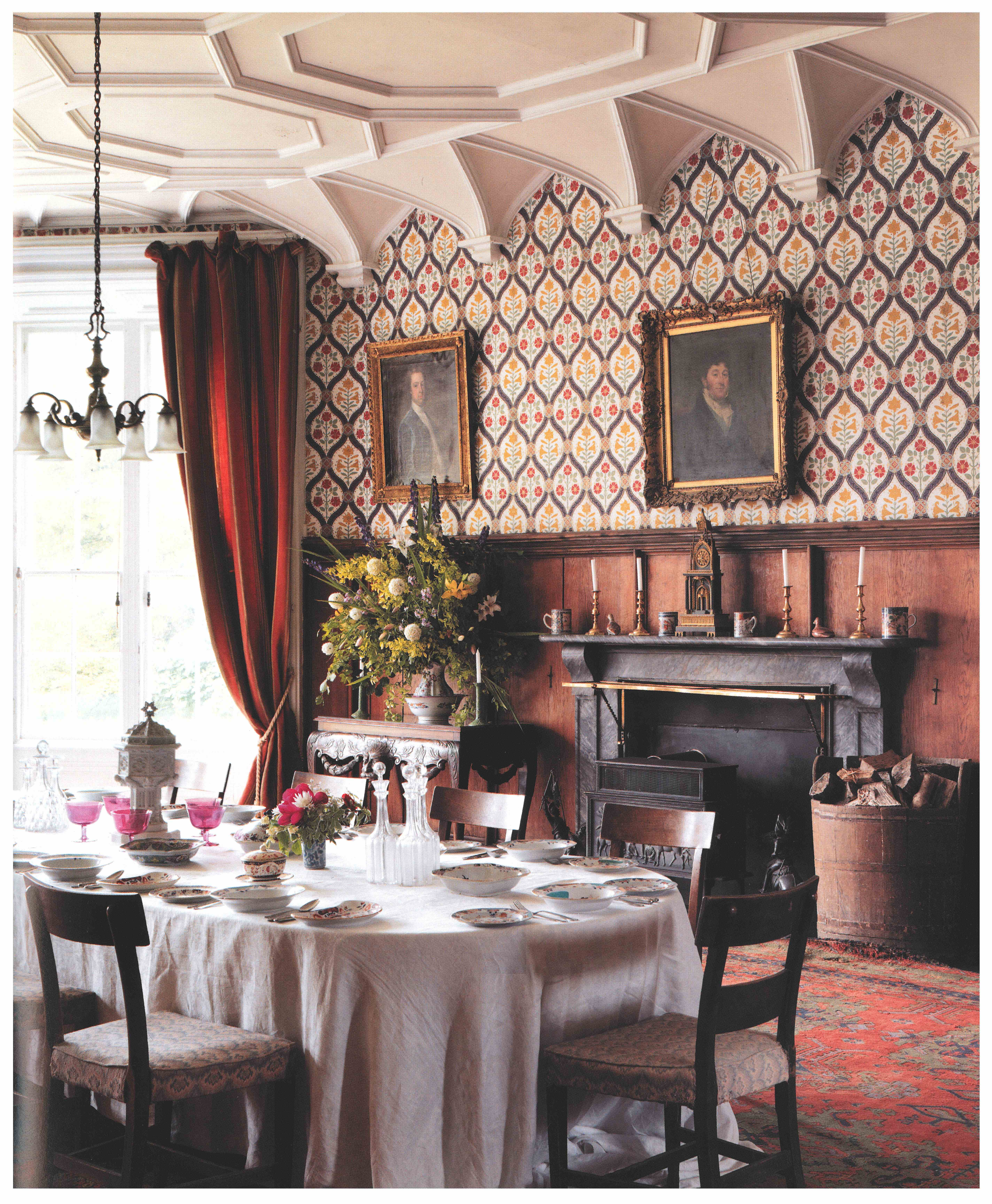 Dining Room at Tullynally, County Westmeath. ©CICO Books 2009 Simon Brown