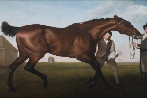 George Stubbs, RA, Hambletonian, Rubbing Down, 1799 -1800. Mount Stewart ©National Trust Images Chris Lacey
