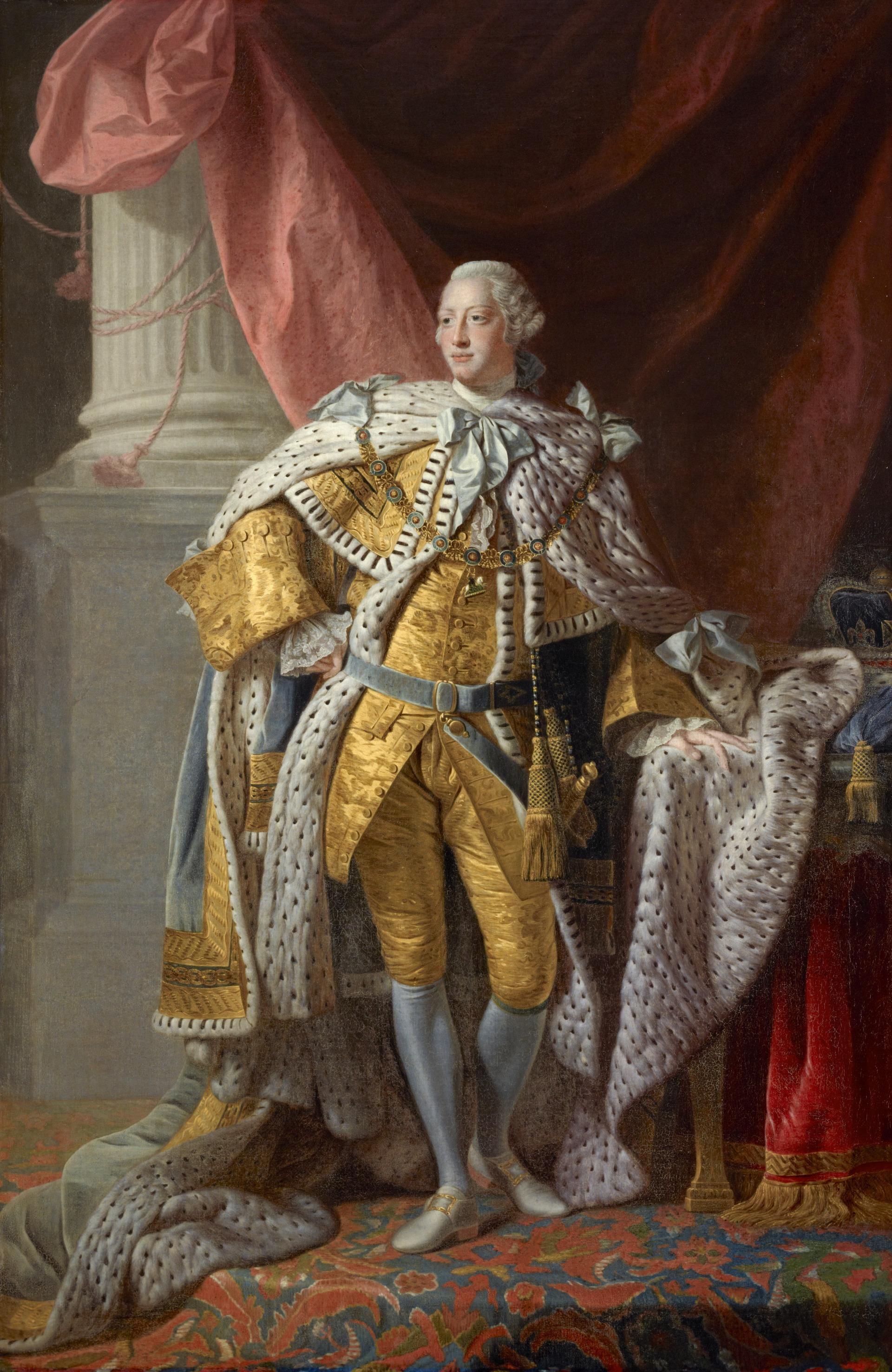 George III, 1738 - 1820. Reigned 1760 - 1820 ©Studio of Allan Ramsay