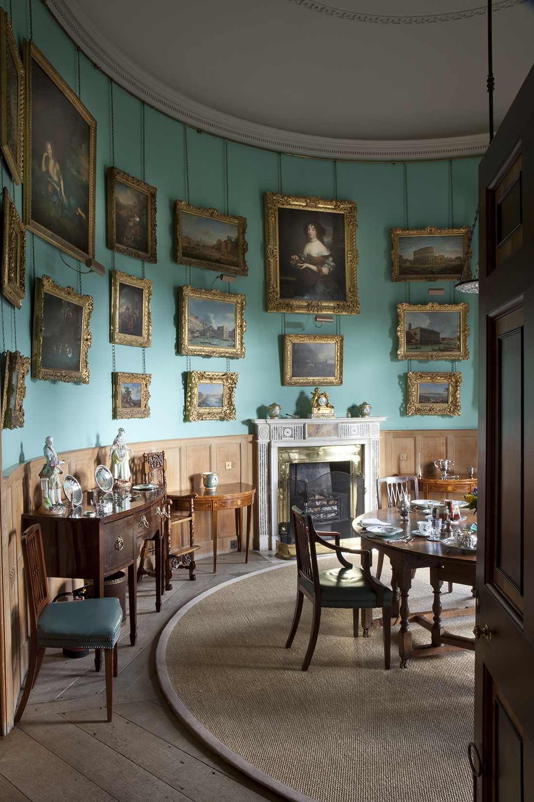 The Private Dining Room at Goodwood House. ©James Fennell