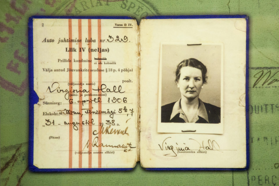 Virginia Hall's Estonian Drivers License. The Central Intelligence Agency