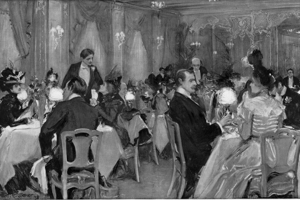Albert Sterner, Supper at Delmonico's, New York 1898