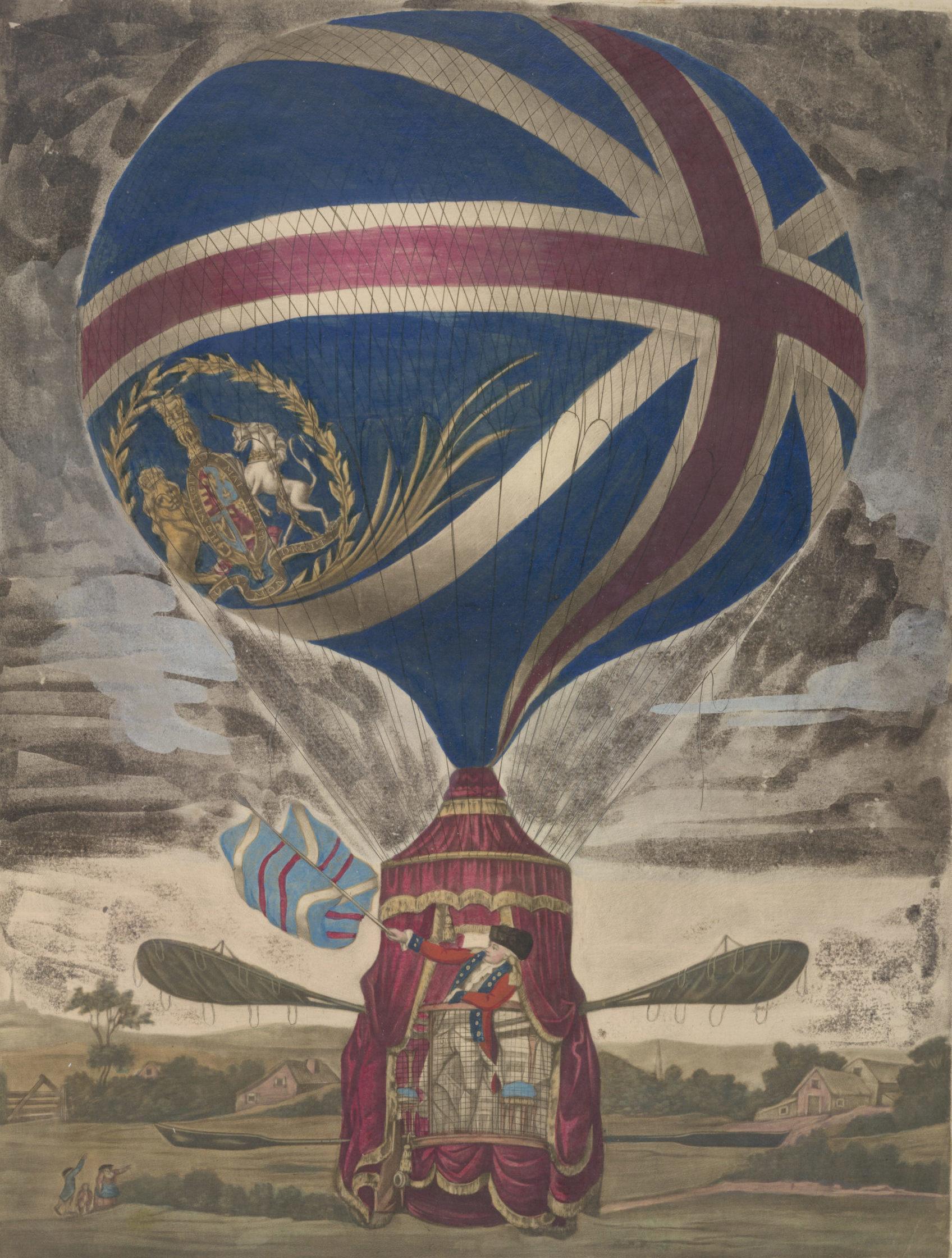 An exact representation of Mr. Lunardi's new balloon, 1785 © The British Library Board