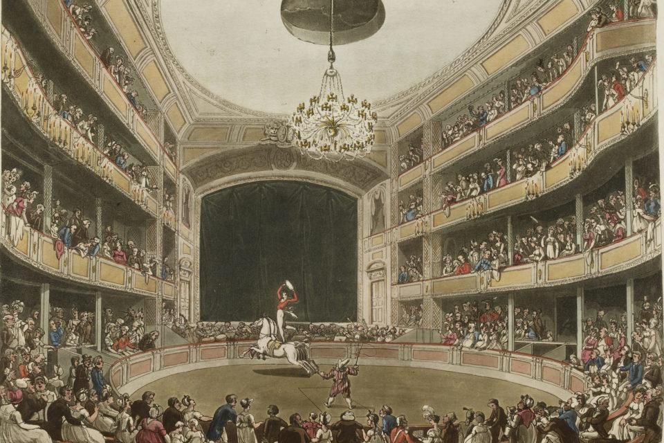 Astley's Amphitheatre, 1808 © The British Library Board