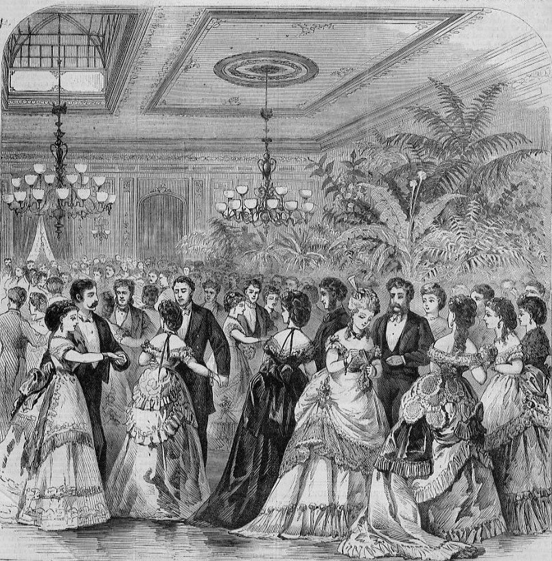 The reception held at Delmonico's for prince Arthur of Great Britain, New York 1st February 1870